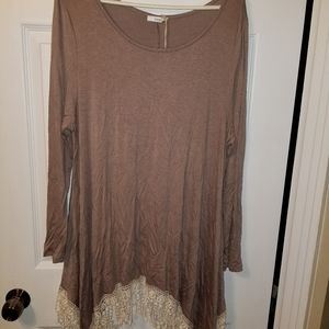 Women's Jodifl Large Longe Sleeve Top